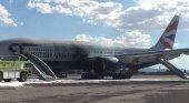 Una grieta responsable del incendio del Boeing de British Airways en Las Vegas  Airgways