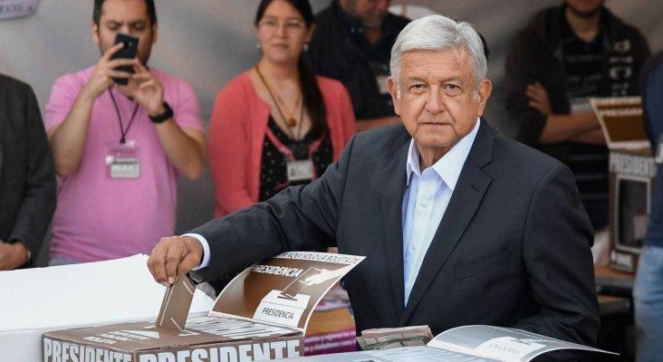 México conocerá esta tarde a su nuevo presidente|El candidato López Obrador votando- Alfredo Estrella-AFP