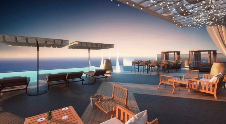 Proyección de la terraza en la azotea. Foto: TUI Group