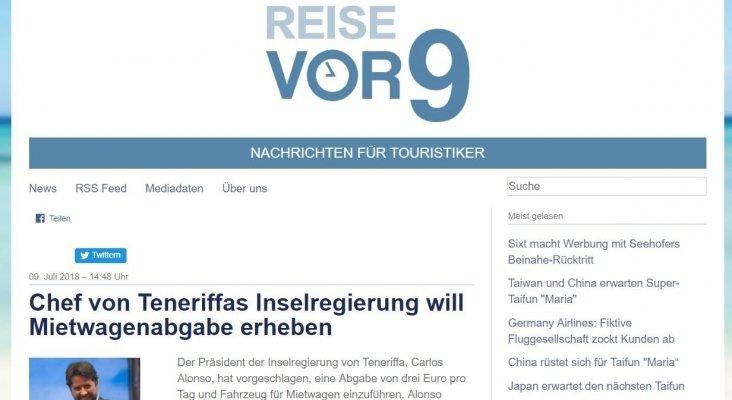 La ecotasa a los rent a car de Tenerife llega a la prensa alemana