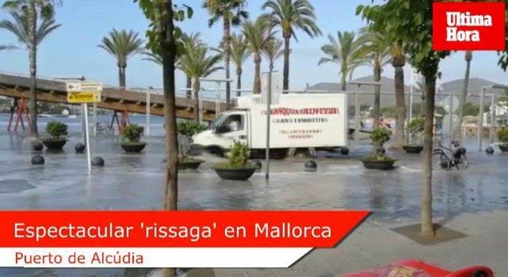 Meteotsunami anega la costa de Mallorca