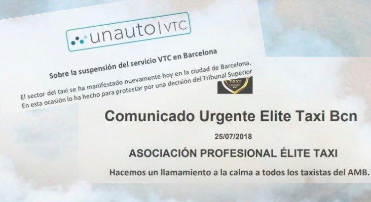 """Uber y Cabify se retiran de Barcelona tras """"agresiones"""" de los taxistas"""