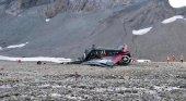 20 personas pierden la vida en un accidente aéreo en Suiza|Foto: Imágenes del avión siniestrado- Police of Grisons vía EFE