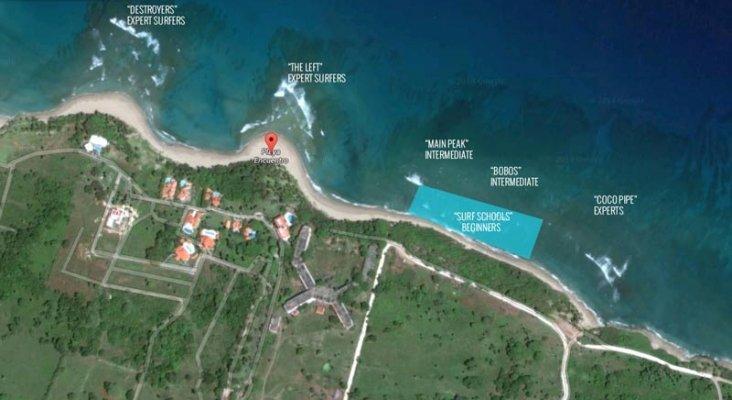 El cierre de una playa hace peligrar el turismo en el norte de Dominicana Foto: Surfing Dominican Republic