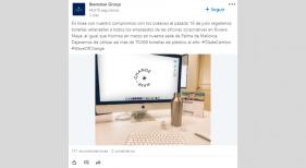 Iberostar Group impulsa una ola de cambio sostenible en sus oficinas|Foto: perfil LinkedIn Iberostar Group