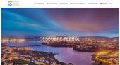 Ferrol lanza una nueva web de promoción turística|Foto: página de portada de la nueva web turística de Ferrol