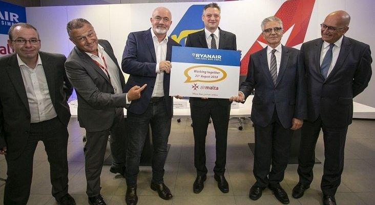 Ryanair ofertará vuelos de Air Malta en su página web