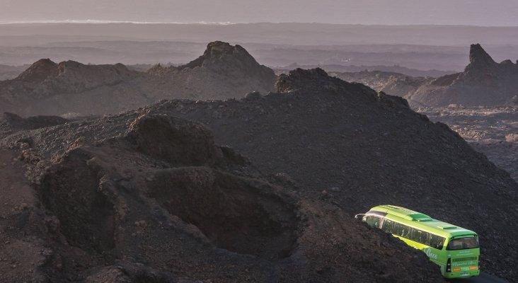 Lanzarote revolucionará el transporte de turistas en el Parque Nacional de Timanfaya