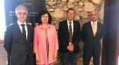 Fernando Estany vicepresidente AEAT, Matilde Asián, Tom Smulders, presidente AEAT y Fernando Mathías, secretario general FEHT AEAT