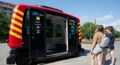 El primer autobús sin conductor inicia su fase de pruebas en Barcelona|Foto: Josep Lago-  AFP vía La Vanguardia