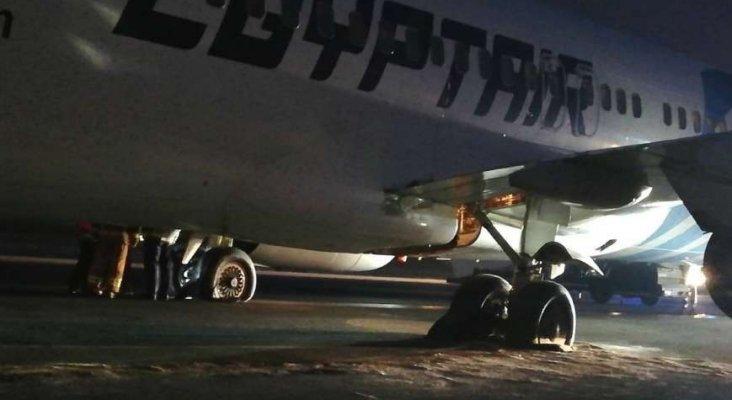 Aeropuerto de Belgrado cerrado por avión bloqueando la pista|Foto: Blick