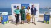 Vanessa Morales, Mariluz Fraile, Inés Jiménez y Fernando Candela durante la presentación de Overbooking Gran Canaria Summit 2018