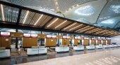 Aeropuerto de Estambul entra en fase de pruebas antes de su inauguración|Foto: Mostradores vacíos del nuevo aeropuerto- aerotelegraph
