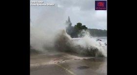 Huracán hace volar por los aires a embarcaciones en Grecia