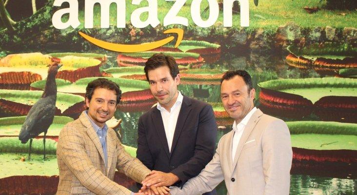 Izqda. a Dcha. Victor Fernández, CEO Room Mate Group, Edouard Chabrol, Head de Amazon Pay para Francia,España e Italia y Pablo Gago, Global Chief Strategy & Innovation de Room Mate Group