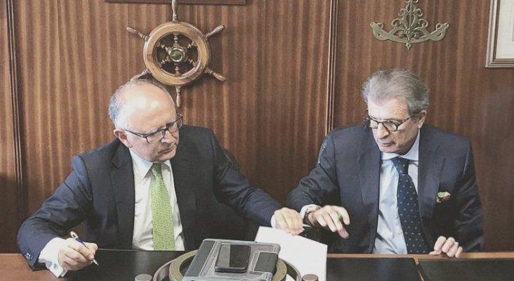 La aerolínea española Binter será la primera de Europa en estrenar los Embraer E195-E2|Foto: Vicepresidente y consejero delegado de Binter Canarias, Rodolfo Núñez (izq.) y Alfredo Morales (drch.)