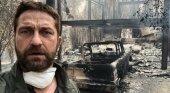 El actor Gerard Butler muestra el estado de su casa de Malibú tras el paso del fuego- Gerard Butler vía Facebook