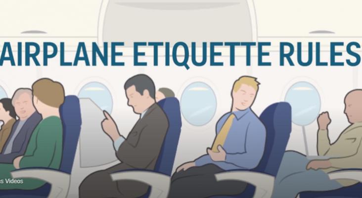 ¿Cuáles son las normas de etiqueta cuando se viaja en avión?