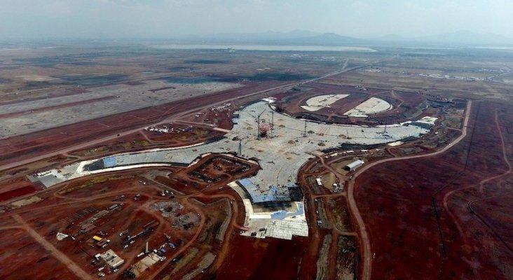 """Continúan las obras del nuevo aeropuerto de México """"hasta nueva evaluación"""" Foto: grupoenconcreto.com"""