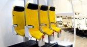 Un nuevo asiento de avión obliga a los pasajeros a volar de pie|Foto: The Skyrider 2.0- Aviointeriors vía Insider