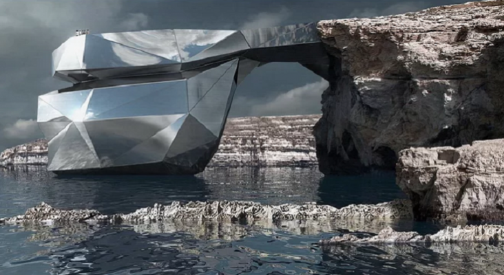 Una 'prótesis' de acero reconstruirá un monumento natural de Malta Foto: © svetozar andreev