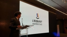 L'Exquisit Mediterrani, la nueva marca gastroturística de la Comunitat Valenciana|Foto: Francesc Colomer en la presentación de la marca | Foto: Europa Press vía Diari La Veu