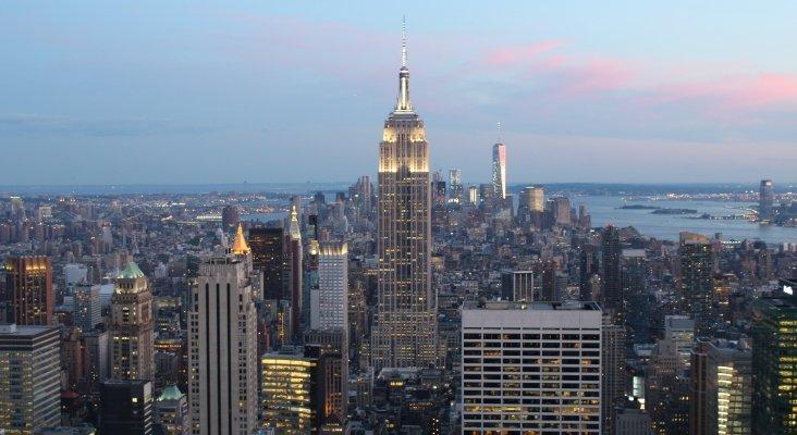 La torre Chrysler, en el centro de la imagen