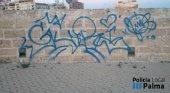 Mallorca prepara un protocolo contra las pintadas vandálicas | Foto: Policía Local de Palma