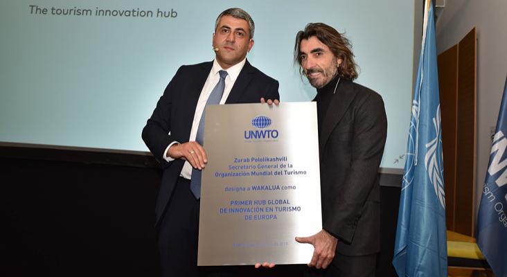 Globalia y la OMT crean un hub global de innovación turística | Foto: Zurab Pololikashvili, secretario general de la OMT (izq.) y Javier Hidalgo, CEO de Globalia