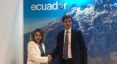 Ostelea firma un convenio de colaboración con el Gobierno de Ecuador | Foto: Rosi Prado de Holguín, ministra de Turismo de Ecuador; y Francesc Calabia, director general de Ostelea
