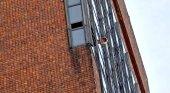 El incendio se produjo a las 17 en el palier del quinto piso del Hotel Las Naciones Fuente: LA NACION - Crédito: Hernán Zenteno