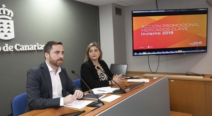 Foto: Isaac Castellano, consejero de Turismo, Cultura y Deportes de Canarias; y María Méndez, directora gerente de Promotur