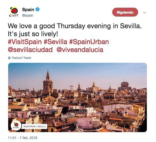 La cuenta oficial de Turismo de España desata las burlas en las redes sociales