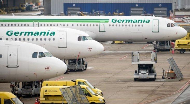 Germania, aeronaves aparcados en el aeropuerto de Nürnberg