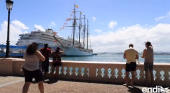 Propinan una paliza a un tripulante del 'Elcano' en Puerto Rico | Foto: el buque Juan Sebastián Elcano en el muelle de San Juan- endi/ elnuevodia.com