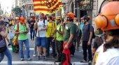 Foto: huelga general en Cataluña durante 2017
