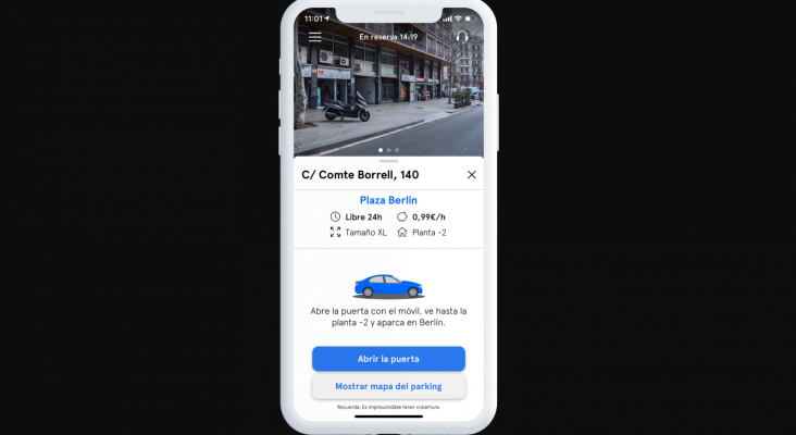 Lanzan una 'app' para aparcar por horas en plazas particulares desocupadas| Foto: parc.app