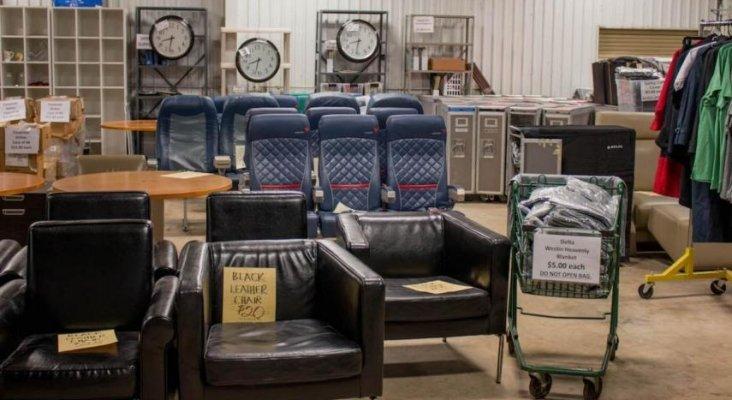 Delta pone en venta sus reliquias, desde asientos a inodoros de avión | Foto: Delta Air Lines vía Business Insider