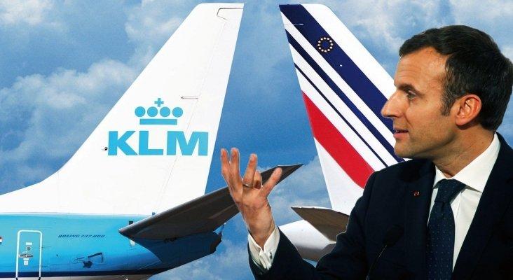"""La maniobra """"clandestina"""" de Holanda con Air France-KLM irrita a Macron"""