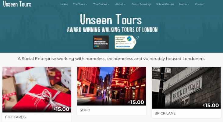 Los 'sin techo' de Londres se convierten en guías turísticos
