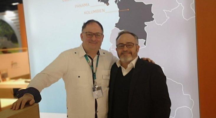 Andreas Blass, CEO de Caribbean Tours, e Ignacio Moll, editor de Tourinews