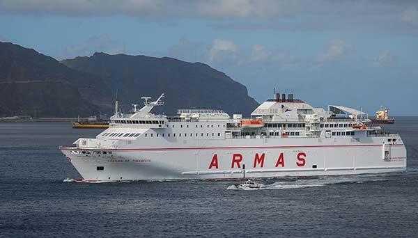 Los ferris de Naviera Armas, Baleària y FRS contarán con WiFi vía satélite