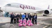 Hito histórico: Qatar Airways recibe su avión número 250 | Foto: qatarairways.com