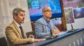 Alberto Bernabé, vicepresidente y consejero insular de Turismo (izq.) y Vicente Dorta, consejero delegado de Turismo de Tenerife (dch.)