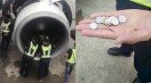 El ritual de la (no) suerte: arrojar monedas a los motores de los aviones | Foto: Transponder 1200
