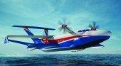 Diseño del futuro ekranoplano marino pesado A-050 Chaika-2 © FOTO: OFICINA CENTRAL DE DISEÑO ALEKSEEV
