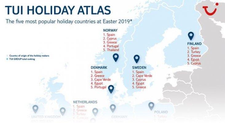 Tres destinos españoles entre los favoritos de los clientes de TUI enSemana Santa