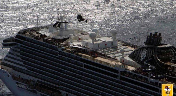El Ejército del Aire rescata a embarazada a bordo de un crucero en Canarias Foto: Ejército del Aire