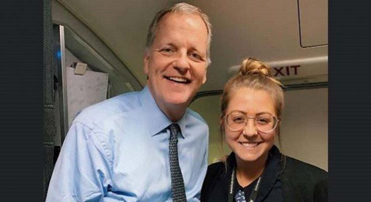 La metedura de pata de una azafata de American Airlines con el CEO de la compañía| Foto: Doug Parker y Maddie Peters- aviacionaldia.com