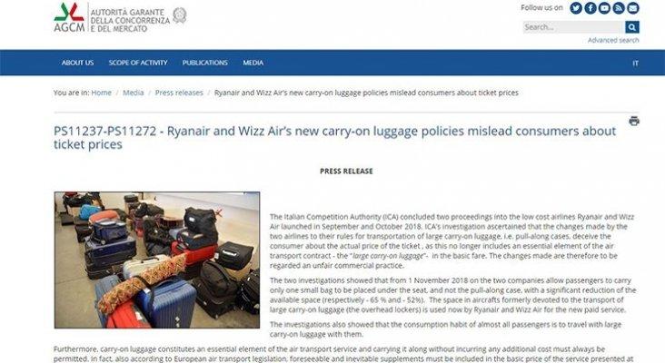 bce45a247 Tribunal italiano suspende la multa millonaria a Ryanair